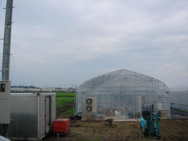 西山農場栽培ハウス完成間近